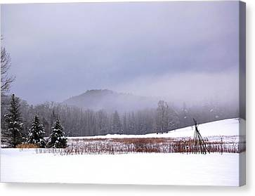Canvas Print featuring the photograph Winter Strata by Mary McAvoy