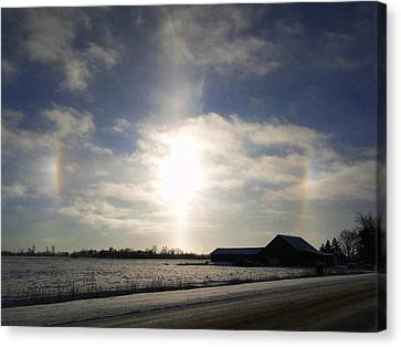 Winter Sun Dogs Canvas Print