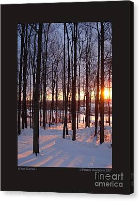 Winter Sunrise-ii Canvas Print by Patricia Overmoyer