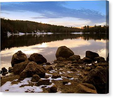 Canvas Print featuring the photograph Winter Sunset by Bruce Carpenter