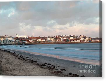 Winter Sunset Canvas Print by David  Hollingworth