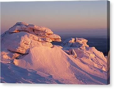 Winter View Of The Top Of Brocken Canvas Print by Norbert Rosing