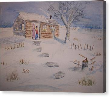 Winter Welcome Canvas Print by Spencer  Joyner