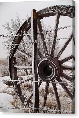 Winter Wheel Canvas Print by Wesley Hahn