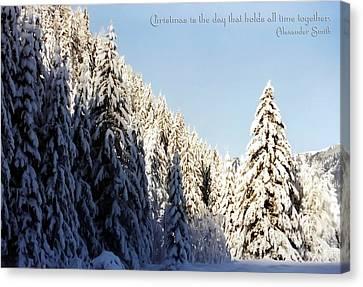Winter Wonderland Austria Europe Canvas Print by Sabine Jacobs