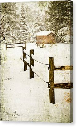 Canvas Print featuring the digital art Winter's Beauty by Mary Timman