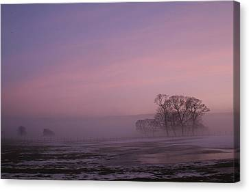 Canvas Print featuring the photograph Winters Eve by David Grant