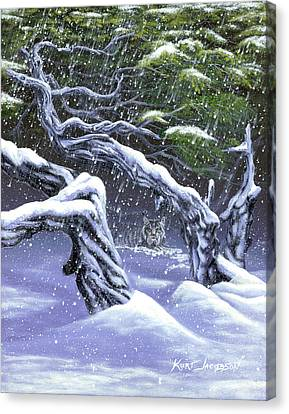 Canvas Print featuring the painting Winters Ghost by Kurt Jacobson