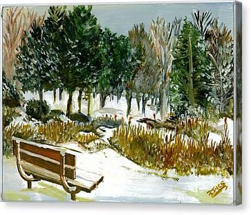 Winter's Invitation Canvas Print