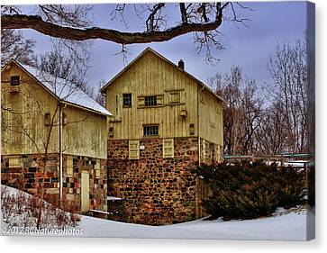 Canvas Print featuring the photograph Winters Mill by Rachel Cohen
