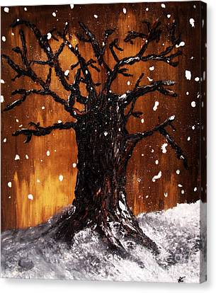 Wintertree 3 Canvas Print by Ayasha Loya