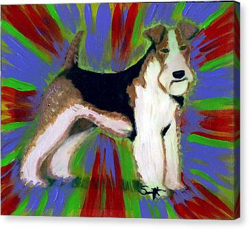 Wire Fox Terrier Canvas Print by Char Swift