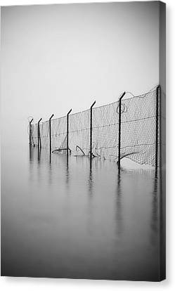 Wire Mesh Fence Canvas Print by Joana Kruse