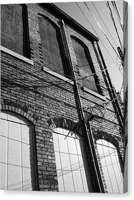 Wired In Black And White Canvas Print by Kathy Clark