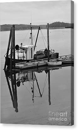 Wiscasset Reflection Canvas Print by Catherine Reusch  Daley