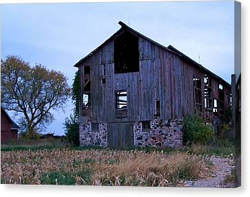 Canvas Print featuring the photograph Wisconsin Barn by Kristine Bogdanovich