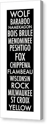 Wisconsin Rivers Canvas Print by Geoff Strehlow