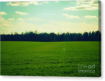 Canvas Print featuring the photograph Wish You Were Here by Robin Dickinson