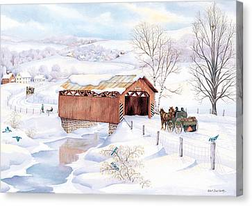 Wishin Bridge Canvas Print by Robert Boast Cornish