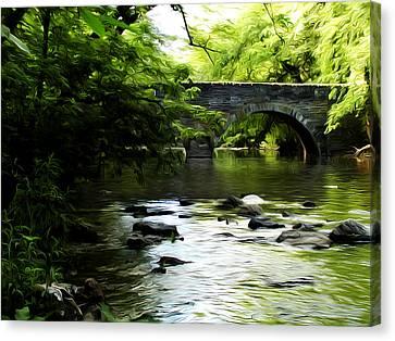 Wissahickon Bridge Canvas Print by Bill Cannon