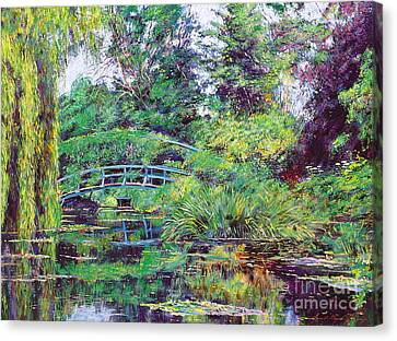 Wisteria Bridge Giverny Canvas Print by David Lloyd Glover