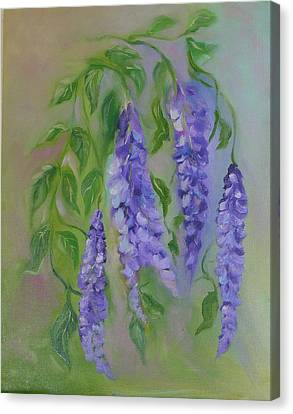 Canvas Print featuring the painting Wisteria by Carol Berning
