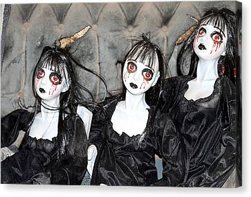 Witches Of Hallow's Eve Canvas Print by Elizabeth Winter