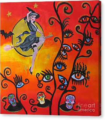 Witching And Watching Canvas Print by Diana Riukas