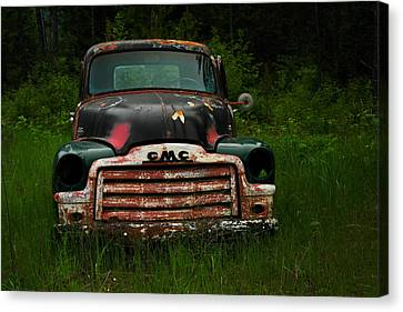 With Both Eyes Poked Out Canvas Print by Jeff Swan