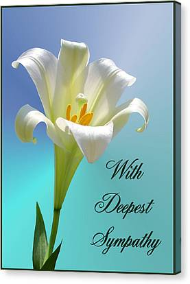 With Deepest Sympathy Canvas Print by Kristin Elmquist