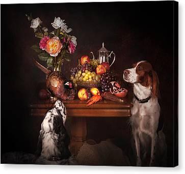 Canvas Print - With Pheasants by Tanya Kozlovsky