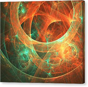 Abstract Digital Art Canvas Print - Within by Lourry Legarde