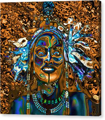 Wodaabe Blue Canvas Print