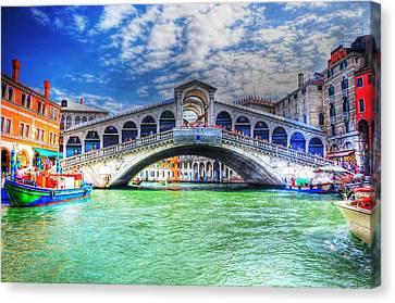 Woke Up In Venice Canvas Print by Barry R Jones Jr