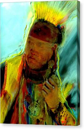Wokini..seeking A New Beginning Canvas Print by FeatherStone Studio Julie A Miller