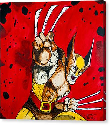 Wolverine Canvas Print by Chris  Leon