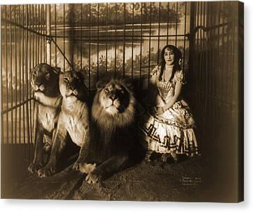 Woman Circus Performer Named Adjie Canvas Print by Everett