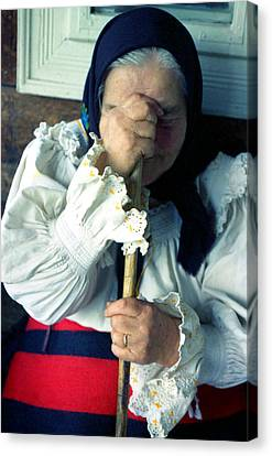 Woman From Maramures  Canvas Print by Emanuel Tanjala