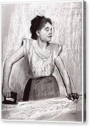 Woman Ironing Canvas Print by Edgar Degas
