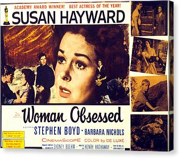 Woman Obsessed, Susan Hayward, Stephen Canvas Print by Everett