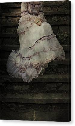 Woman On Steps Canvas Print