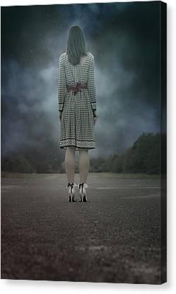 Woman On Street Canvas Print by Joana Kruse