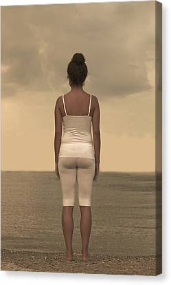 Woman On The Beach Canvas Print by Joana Kruse