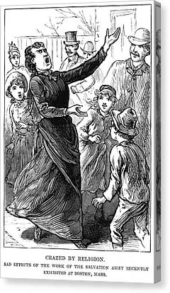 Salvation Army Canvas Print - Woman Preaching, 1888 by Granger