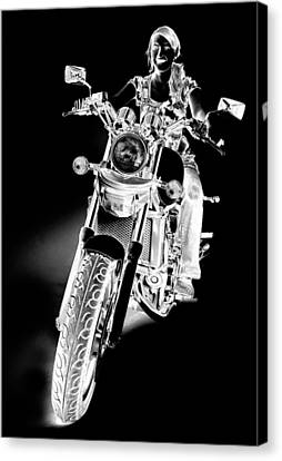 Woman Rider Canvas Print