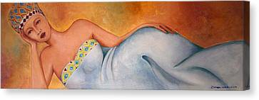 Woman  Canvas Print by Simona  Mereu