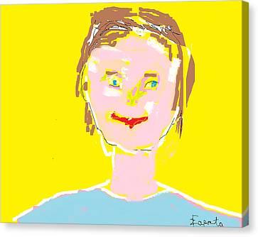 Woman Smiling Canvas Print by Felix Zapata