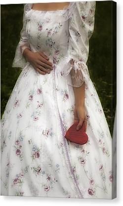 Woman With A Heart Canvas Print by Joana Kruse