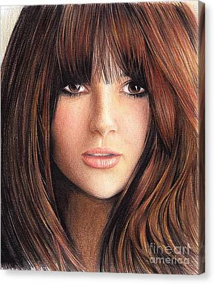 Woman With Brown Hair Canvas Print