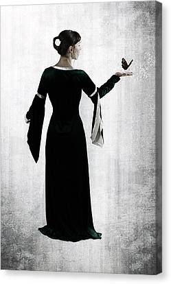 Woman With Butterfly Canvas Print by Joana Kruse